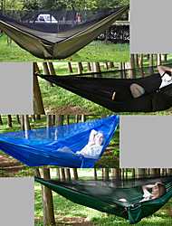 cheap -Camping Hammock with Mosquito Net Outdoor Lightweight, Breathability Nylon for Hiking / Camping / Travel - 2 person Black / Dark Green /