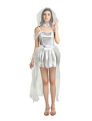 cheap -Witch Costume Women's Halloween / Carnival / Children's Day Festival / Holiday Halloween Costumes Gray Solid Colored / Halloween Halloween
