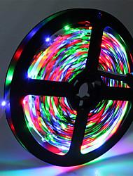 cheap -HKV 5m Flexible LED Light Strips 300 LEDs 3528 SMD RGB Cuttable / Linkable / Self-adhesive 12 V
