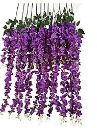 Недорогие -Искусственные Цветы 6 Филиал подвешенный Свадьба Лепестки Цветы на стену