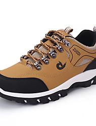 Недорогие -Муж. Полиуретан Осень Удобная обувь Спортивная обувь Для пешеходного туризма Контрастных цветов Черный / Желтый / Зеленый