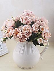 baratos -Flores artificiais 1 Ramo Clássico / Solteiro (L150 cm x C200 cm) Estiloso / Pastoril Estilo Rosas Flor de Mesa