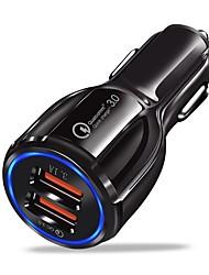 Недорогие -Автомобильное зарядное устройство Зарядное устройство USB Универсальный Несколько разъемов / QC 3.0 2 USB порта 3.1 A DC 12V-24V для iPhone X / iPhone 8 Pluss / iPhone 8