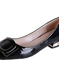 Недорогие -Жен. Комфортная обувь Полиуретан Осень На плокой подошве На низком каблуке Квадратный носок Синий / Розовый / Миндальный
