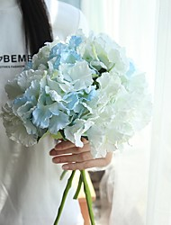 cheap -Artificial Flowers 10 Branch Classic Modern Hydrangeas Tabletop Flower