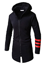 cheap -Men's Basic Hoodie - Solid Colored / Geometric