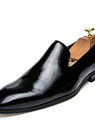 cheap -Men's Faux Leather Spring / Fall Formal Shoes Loafers & Slip-Ons Wear Proof Gradient Gold / Black / Red / Party & Evening
