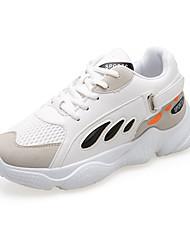 Недорогие -Жен. Вулканизованная обувь Синтетика Осень Спортивная обувь Для фитнеса На плоской подошве Круглый носок Белый / Черный / Синий+Розовый / Контрастных цветов