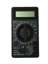 abordables -multimètre numérique tenu dans la main noir d'affichage à cristaux liquides de dt838-1000v utilisant pour la maison et la voiture