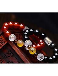 cheap -Women's Vintage Style / Beads Strand Bracelet - Buddha, Faith Asian, Classic, Ethnic Bracelet Black / Red For Birthday / Festival