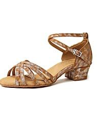 Недорогие -Жен. Обувь для латины Искусственная кожа Сандалии Толстая каблук Танцевальная обувь Цвет-леопард