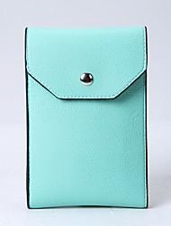 baratos -Mulheres Bolsas PU Telefone Móvel Bag Cor Única Amarelo / Fúcsia / Khaki