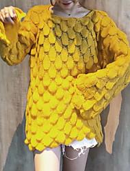 povoljno -Žene Dugih rukava Pullover Jednobojni