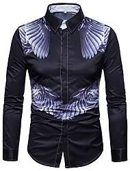 Недорогие -Муж. С принтом Рубашка Уличный стиль / Панк & Готика Контрастных цветов