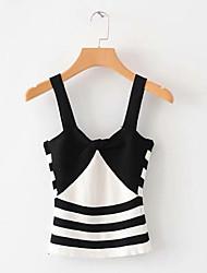 cheap -women's sleeveless slim vest - striped strap