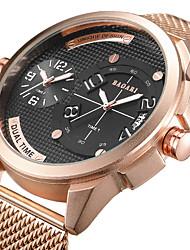 Недорогие -Муж. Спортивные часы Наручные часы Японский Кварцевый Нержавеющая сталь Черный / Синий / Розовое золото С двумя часовыми поясами Повседневные часы Cool Аналоговый Роскошь Мода -  / Крупный циферблат