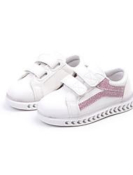 abordables -Garçon Chaussures Polyuréthane Printemps & Automne / Printemps Confort Chaussures d'Athlétisme Marche Scotch Magique pour Enfants Noir / Argent