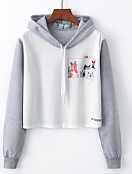cheap -Women's Basic Hoodie - Solid Colored / Character