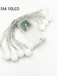 Недорогие -1,5 м Гирлянды 10 светодиоды ДИП светодиоды Тёплый белый / Холодный белый Очаровательный / Декоративная / Подсветка для авто Аккумуляторы AA 1шт