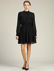 cheap -Women's Going out Slim A Line / Little Black / Chiffon Dress / Fall / Winter
