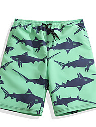 cheap -Men's Swim Shorts Ultra Light (UL), Quick Dry POLY Swimwear Beach Wear Board Shorts / Bottoms Animal Surfing / Beach / Watersports