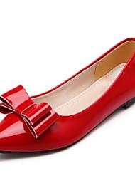 お買い得  -女性用 靴 エナメル 春 / 夏 コンフォートシューズ フラット フラットヒール クローズトゥ ブラック / ベージュ / レッド