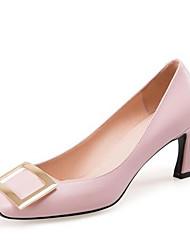 cheap -Women's Shoes Nappa Leather Spring Basic Pump Heels Stiletto Heel Black / Pink