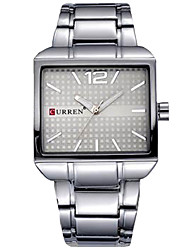 cheap -Men's Wrist Watch Chronograph / Casual Watch / Cool Stainless Steel Band Bangle / Minimalist Black / Silver