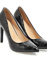cheap -Women's Shoes Leather Spring Basic Pump Heels Stiletto Heel White / Black / Pink