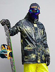 billiga Sport och friluftsliv-GSOU SNOW Herr Skidjacka Skidglasögon, Skidåkning, Vintersport Skidåkning / Vintersport POLY Överdelar Skidkläder