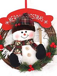 abordables -ornamentos de Navidad Vacaciones De madera Redondo Novedades Decoración navideña