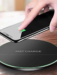Недорогие -девять пять nt4 универсальный круглый быстрый заряд qi беспроводная зарядная панель для ios i7 i8 мобильных телефонов Android