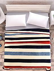Недорогие -Супер мягкий, С принтом Полоски Акриловые волокна одеяла