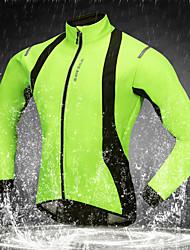 baratos -WOSAWE Jaqueta para Ciclismo Moto Jaquetas Softshell A Prova de Vento, Térmico / Quente, Respirável Côr Sólida Poliéster, Tosão Verde Roupa de Ciclismo / Com Stretch