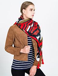 cheap -Women's Basic / Holiday Rectangle - Striped Black & Red, Tassel