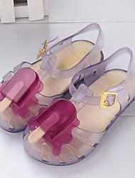 baratos -Para Meninas Sapatos PVC Verão Plástico Sandálias Velcro para Bébé Roxo / Vermelho / Azul