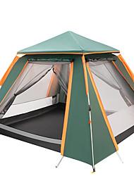 Недорогие -TANXIANZHE® 4 человека Семейный кемпинг-палатка На открытом воздухе С защитой от ветра, Легкость, Дожденепроницаемый Двухслойные зонты Автоматический Палатка 2000-3000 mm для