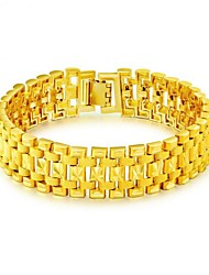 Недорогие -Муж. Стильные Браслеты-цепочки и звенья - Золото 18K Креатив Мода Браслеты Золотой Назначение Для вечеринок Повседневные