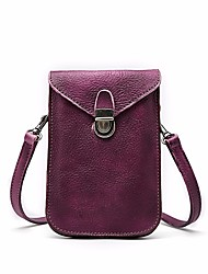 cheap -Women's Bags PU(Polyurethane) Mobile Phone Bag Solid Blue / Purple / Brown