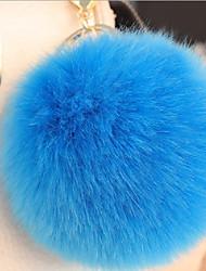 abordables -Balle Porte-clés Rouge / Vert / Bleu clair Forme de Cercle Fourrure de Lapin, Alliage simple, Mode Pour L'obtention du diplôme / Rendez-vous