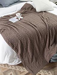 Недорогие -Супер мягкий, Активный краситель Однотонный Хлопок одеяла