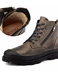 Недорогие -Муж. Армейские ботинки Наппа Leather Осень / Зима Английский Ботинки Нескользкий Ботинки Черный / Коричневый
