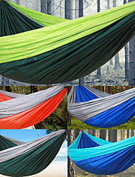cheap -Camping Hammock Outdoor Lightweight Nylon for Hiking / Camping / Travel - 2 person Orange / Dark Blue / Army Green