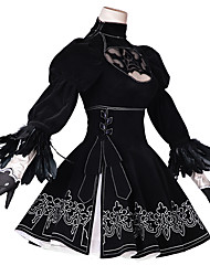 cheap -Inspired by Cosplay Cosplay Anime Cosplay Costumes Cosplay Suits Anime / Floral / Botanical Dress / Gloves / Stockings For Women's