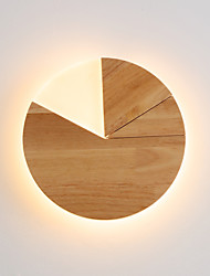 cheap -JLYLITE Mini Style Modern / Contemporary Flush Mount wall Lights Study Room / Office / Office Wood / Bamboo Wall Light 110-120V / 220-240V 24 W