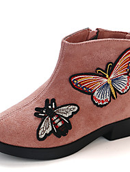 economico -Da ragazza Scarpe Scamosciato Autunno inverno Stivaletti alla caviglia Stivaletti Footing Stampa animal per Bambino Rosa / Vino / Cachi
