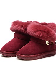 cheap -Girls' Shoes Rabbit Fur / Suede Winter Snow Boots Boots Tassel for Kids / Toddler Wine / Booties / Ankle Boots / Party & Evening