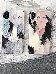 Недорогие -Кейс для Назначение Apple iPhone X / iPhone 8 С узором Кейс на заднюю панель Масляный рисунок Твердый ПК для iPhone X / iPhone 8 Pluss / iPhone 8