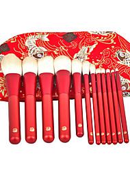 abordables -12 pcs Pinceaux à maquillage Professionnel ensembles de brosses / Maquillage / Pinceau Fard à Paupières Fibre Professionnel / Doux / Couvrant Bois / bambou