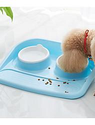 Недорогие -0.4 L L Собаки / Коты Кормушки / Хранение продуктов питания Животные Чаши и откорма Многослойный / На каждый день Зеленый / Синий / Розовый